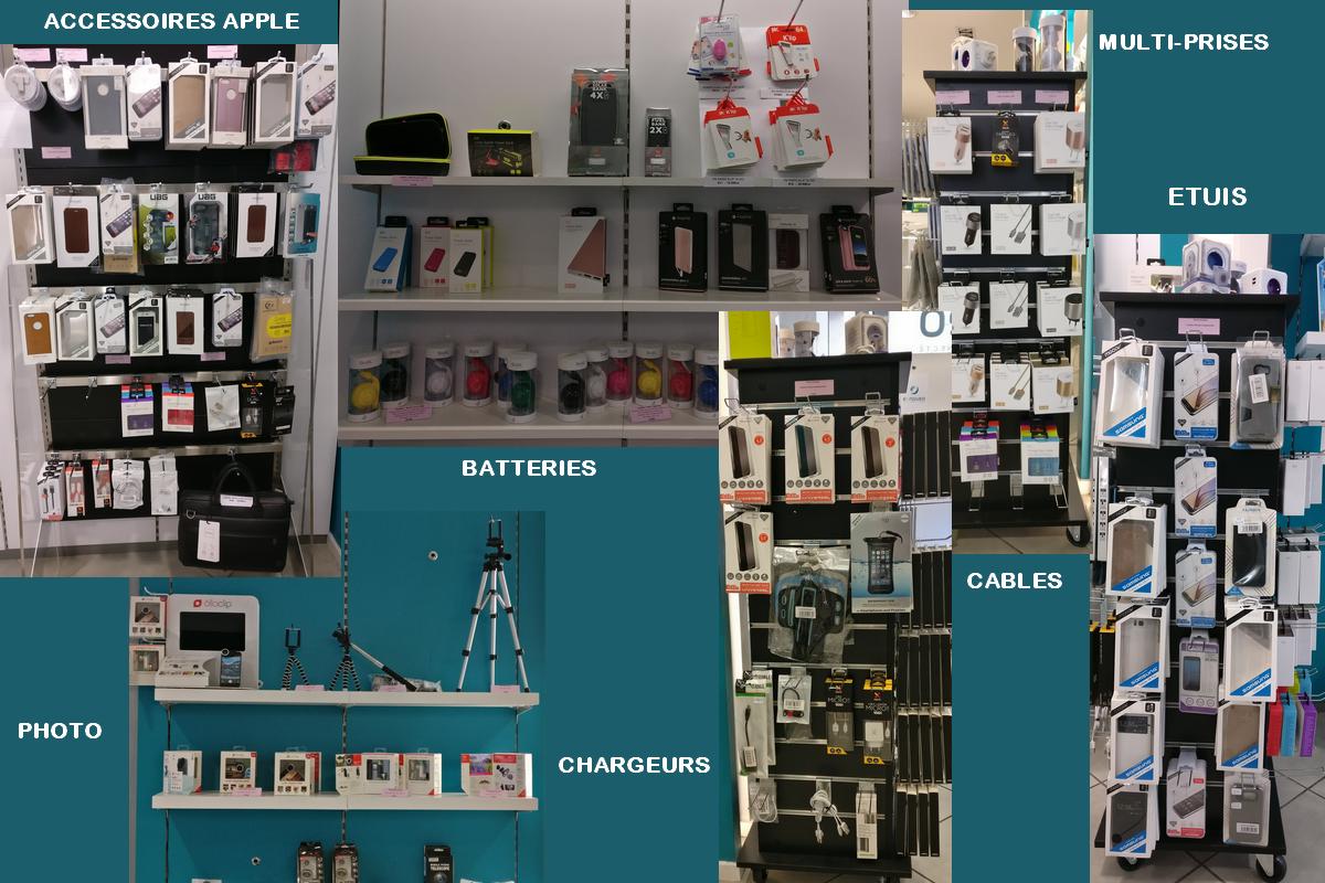 Une sélection d'accessoires pour votre smartphone (Samsung, Apple, Huawei, etc.) dans la boutique d'objets connectés e.noveo à Besançon
